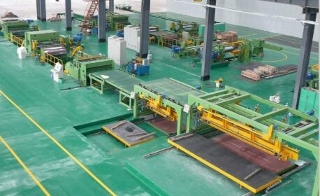 High Speed Rotary Shear Cut To Length Line Steel Roll Forming Machine